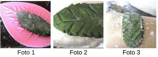 hojas con masa de modelaje