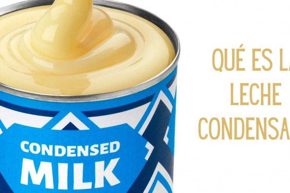 que es la leche condensada