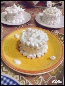 postre con merengue italiano
