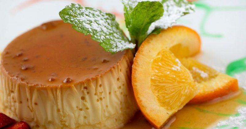 flan de naranja receta
