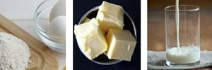 ingredientes para los wafles