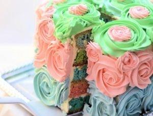 torta con rosas