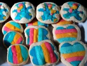 galletas de colores