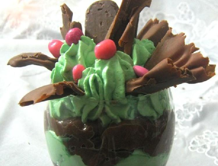 parfait menta chocolate