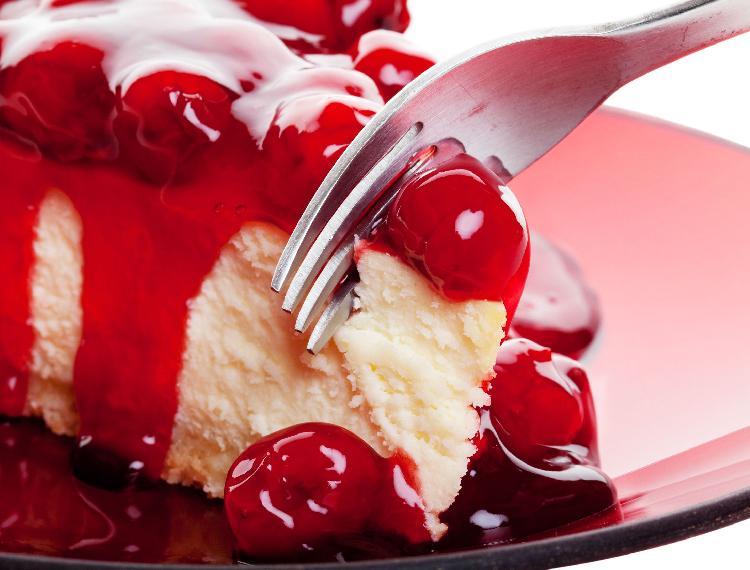 Tarta cremosa de cerezas