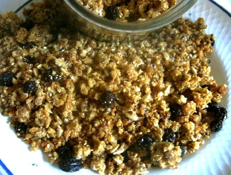 granola con semillas